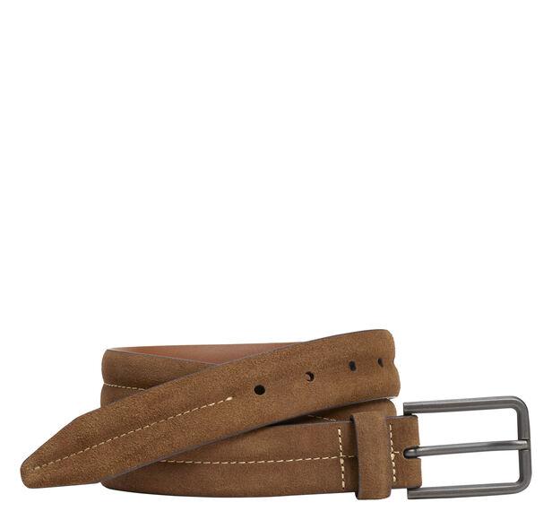Center-Stitched Distressed Belt