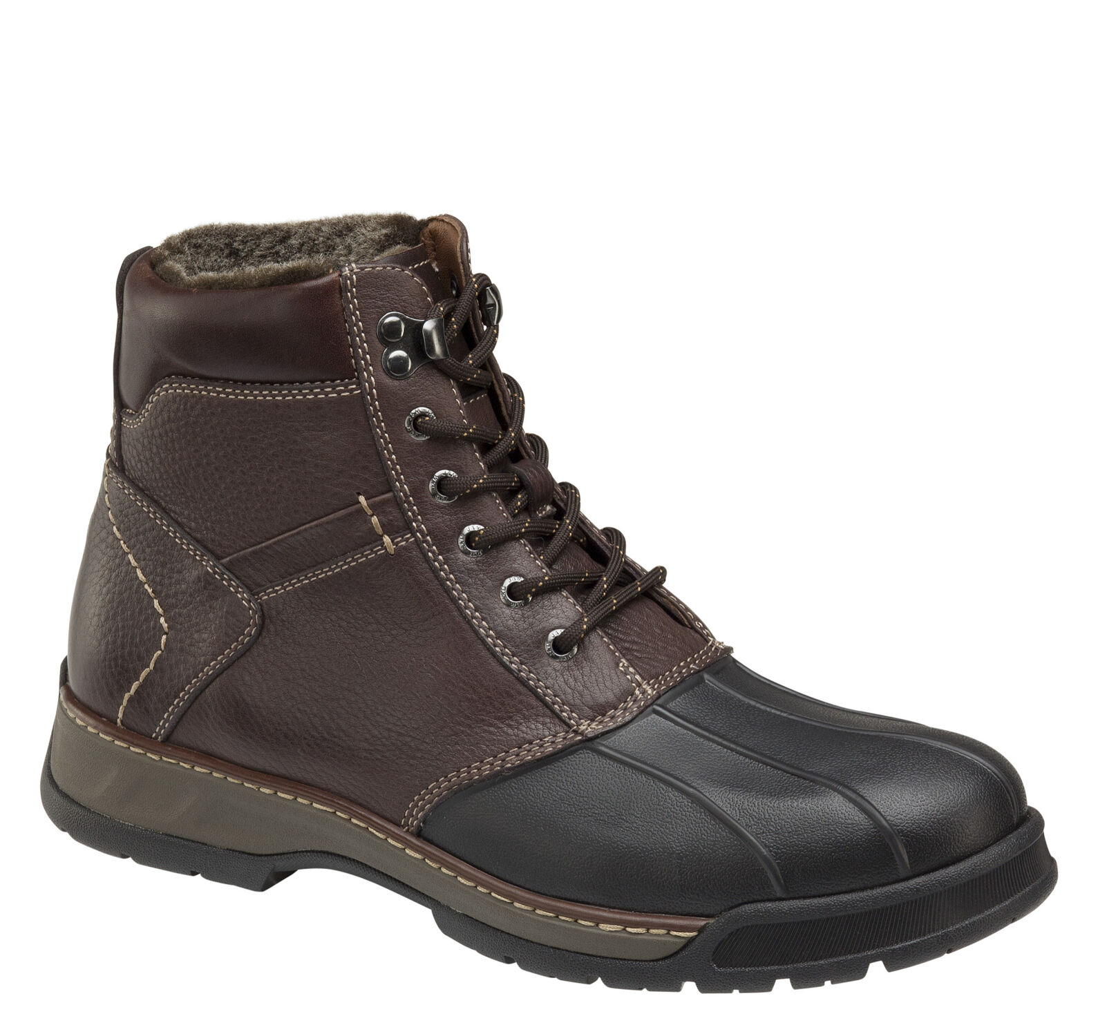Thompson Shearling Duck Boot Johnston Murphy D Island Shoes Hikers Boots Mens Fashionable Brown