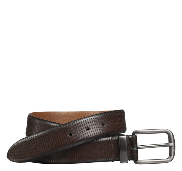 Vertical Scored Leather Belt