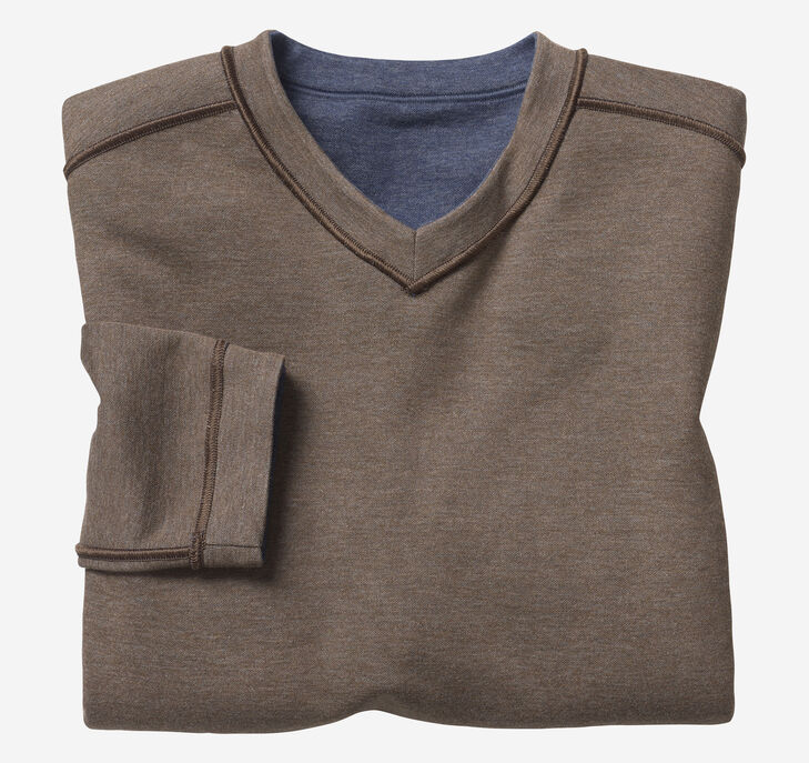 Reversible Long-Sleeve V-Neck