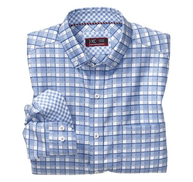 XC4® Framed Check Button-Collar Shirt