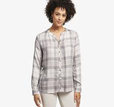 Plaid Y-Neck Shirt