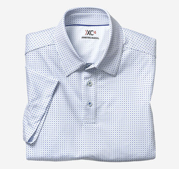 XC4 Diamond Dot Print Polo