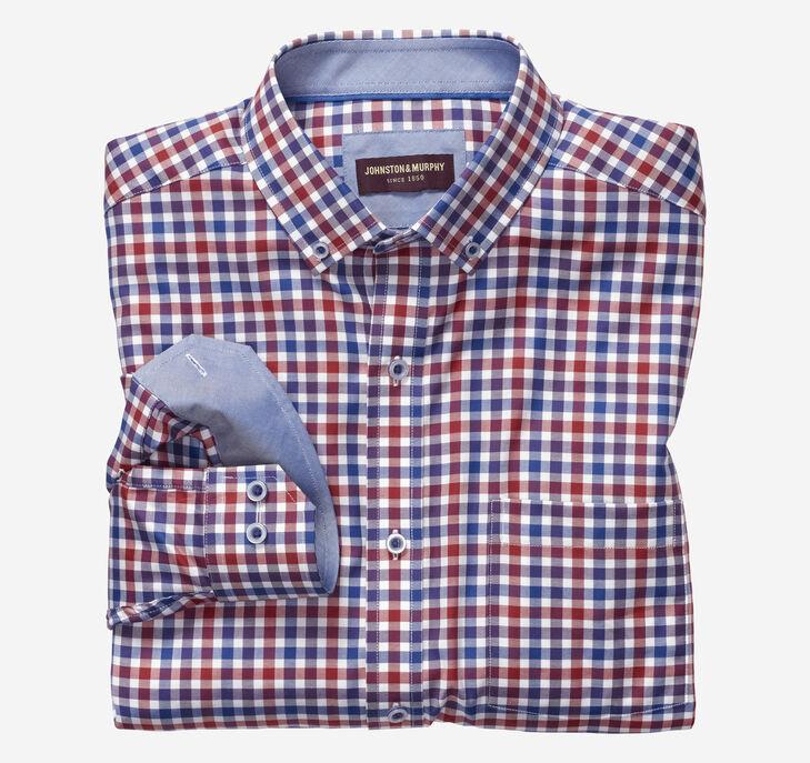 Button-Collar Premium Cotton Shirt