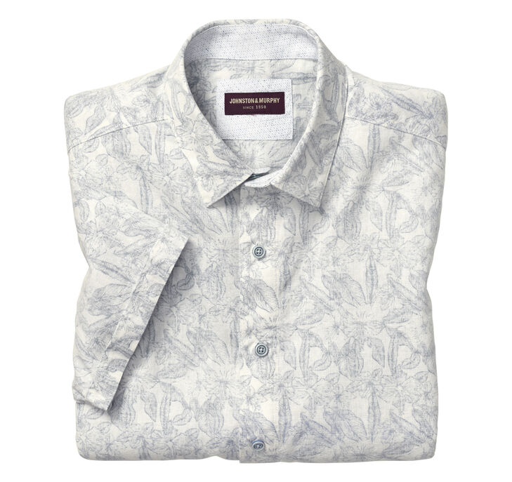 Botanical Linen Camp Shirt