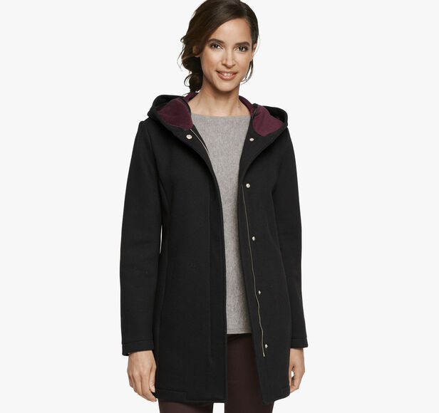 Double-Faced Hooded Coat