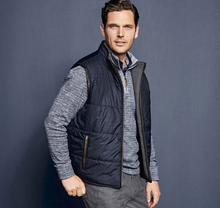 Italian Quilted Reversible Vest