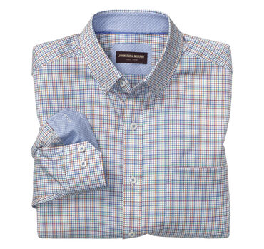 Mini-Grid Check Button-Down Collar Shirt