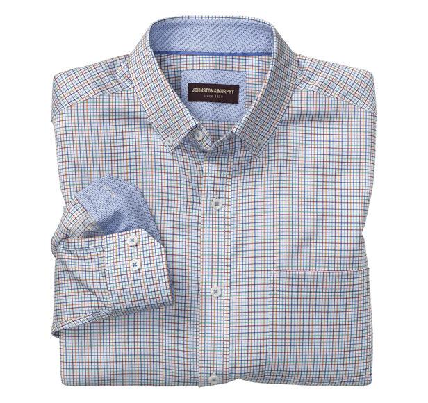 Mini-Grid Check Button-Down Collar Shirt Details | Tuggl