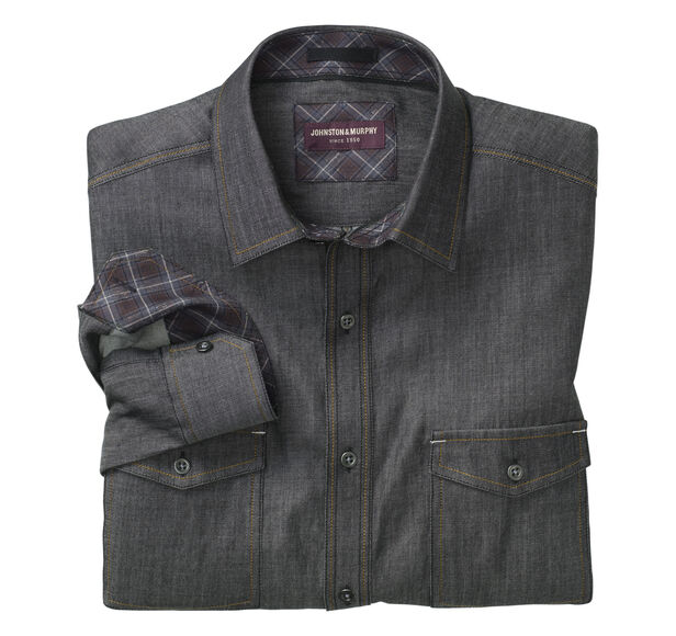 Double-Pocket Denim Shirt