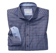 Italian Textured Windowpane Shirt