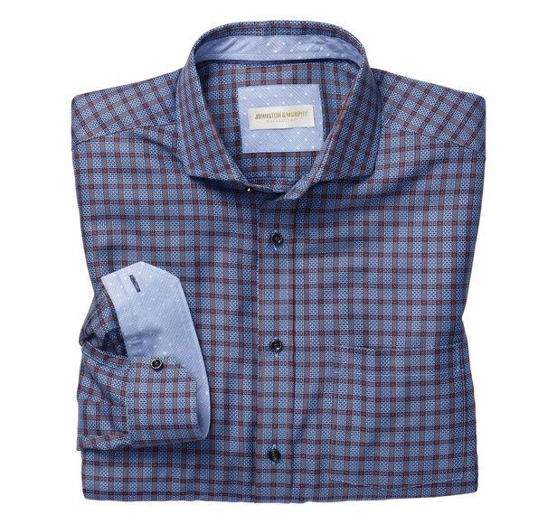 Italian Textured Windowpane Shirt