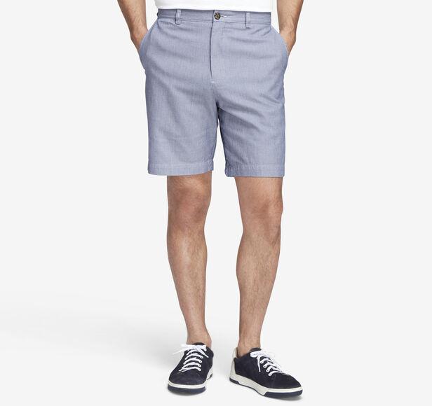 Garment-Washed Mini Houndstooth Shorts