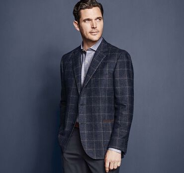 Italian Windowpane Blazer