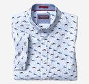 Shark Print Short-Sleeve Shirt