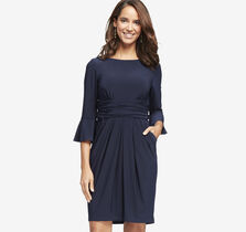 Flare-Sleeve Dress
