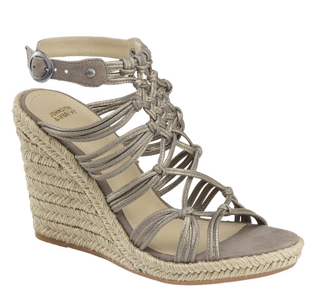 Mindy Braided Ankle-Strap Wedge
