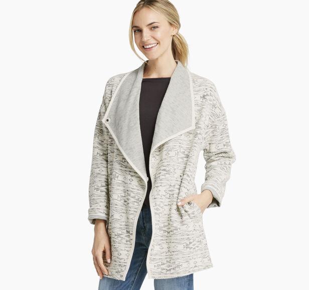 Draped Slub-Jacquard Jacket