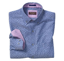 Flower Print Birdeye Button-Collar Shirt