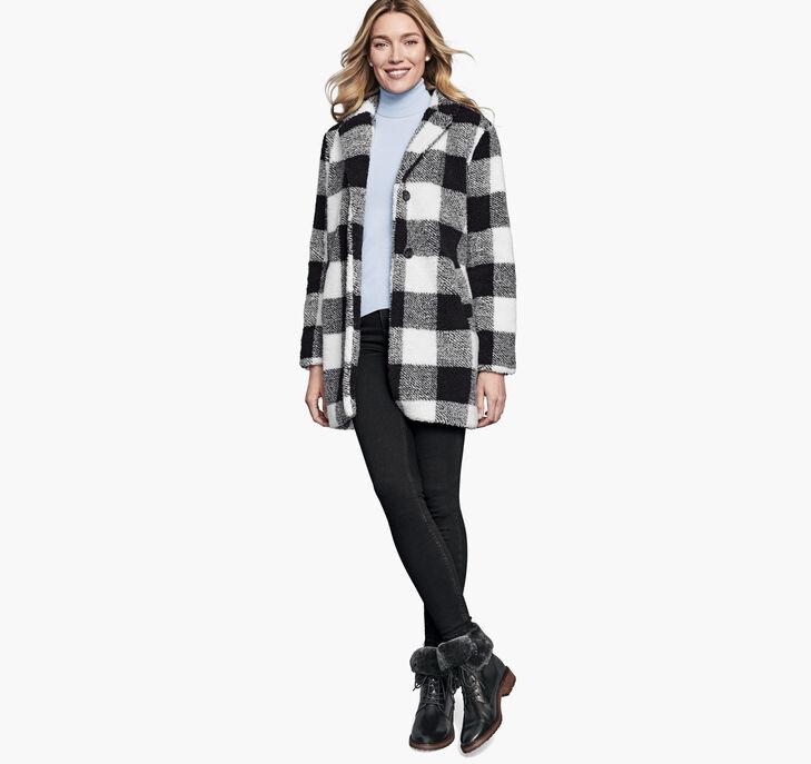 Plaid Teddy Coat