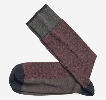 Circle Grid Socks