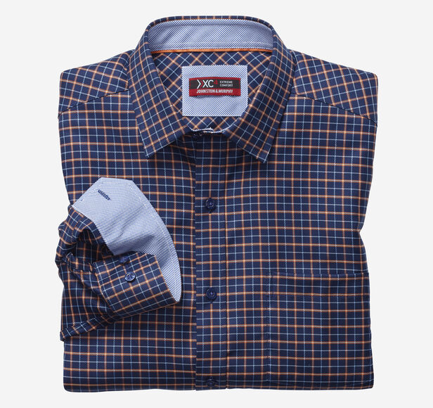 XC4® Arrow Rope Check Point-Collar Shirt