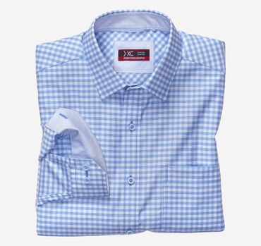 XC4 Tonal Grid Check Point-Collar Shirt