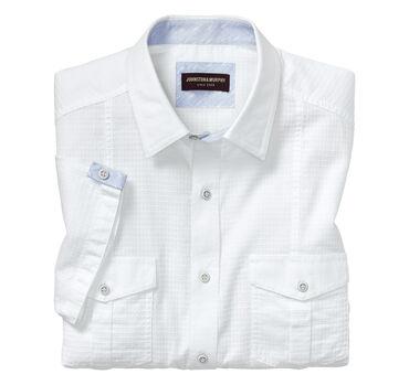 Tonal Square Double-Pocket Short-Sleeve Shirt