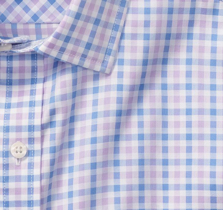 XC4® Mini Gingham Point-Collar Shirt