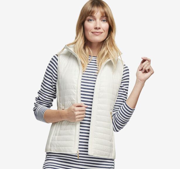 Knit-Back Quilted Vest Details | Tuggl