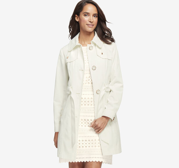 Gold-Rimmed Button Trench