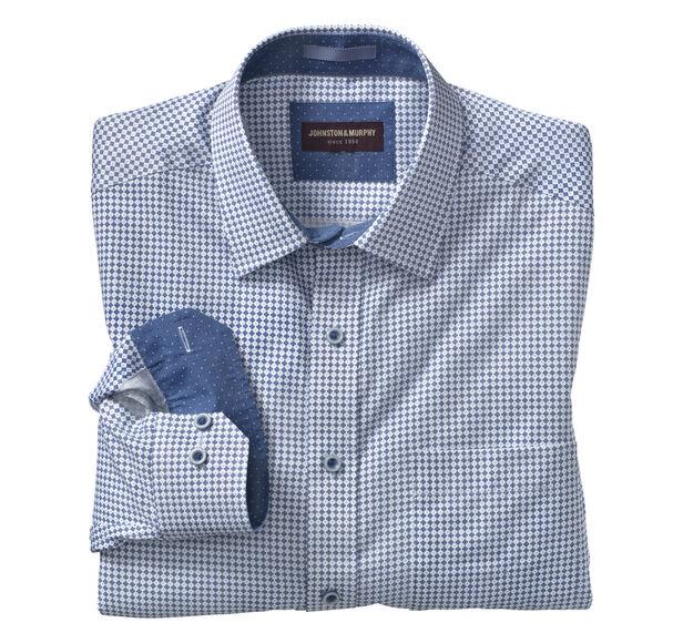 Abstract Cross Print Shirt