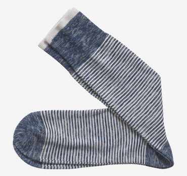 Space-Dyed Mini Stripe Socks