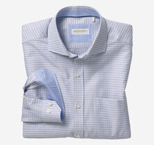 Italian Multi Texture Grid Dress Shirt