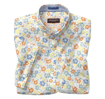 Hibiscus Print Short-Sleeve Shirt