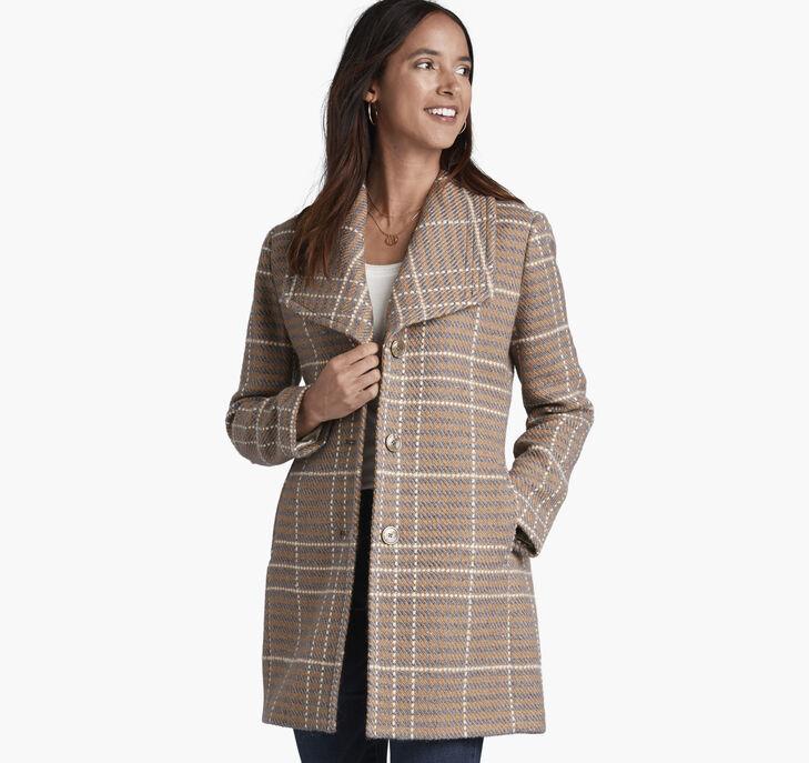 Textured Plaid Coat preview