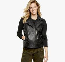 Leather Moto Vest