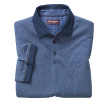 Short-Sleeve Heathered Polo