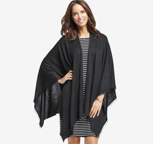 Solid Fringed Ruana