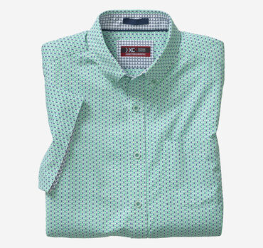 XC4® Stacked Cube Short-Sleeve Stretch Shirt