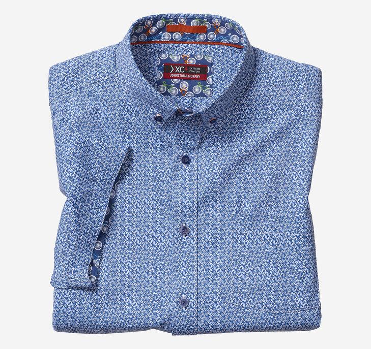 XC4® Spiral Starburst Print Short-Sleeve Stretch Shirt