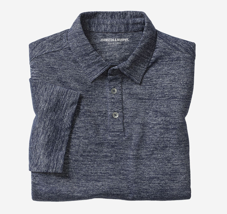 Indigo Knit Polo