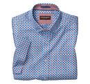 Flower Tiles Print Short-Sleeve Shirt