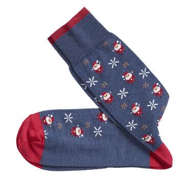 Santa & Snowflakes Socks
