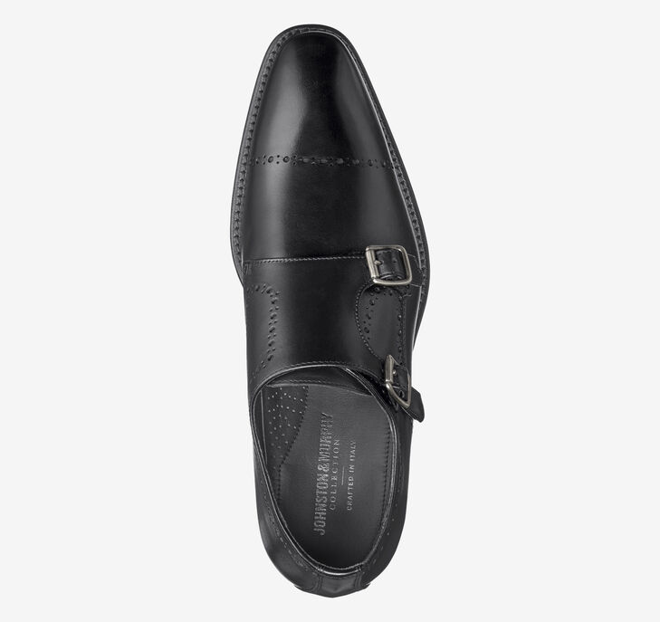 Reece Cap Toe Double Buckle Monk Strap