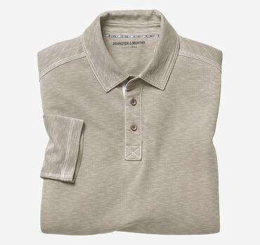 Vintage Slub Long-Sleeve Polo