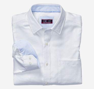 XC4® Solid Birdseye Point-Collar Shirt