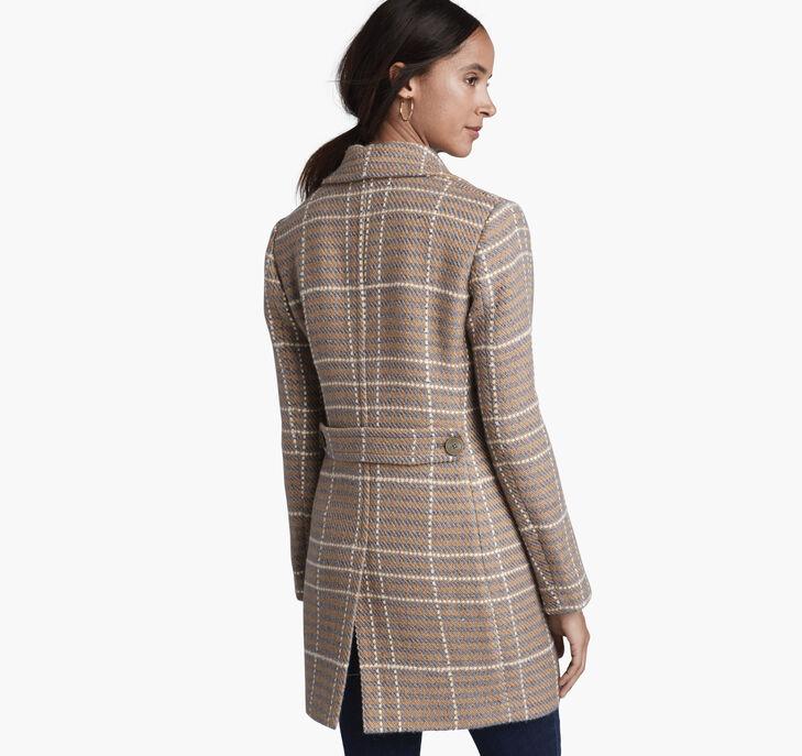 Textured Plaid Coat