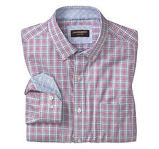 Triple Line Check Button-Down Collar Shirt