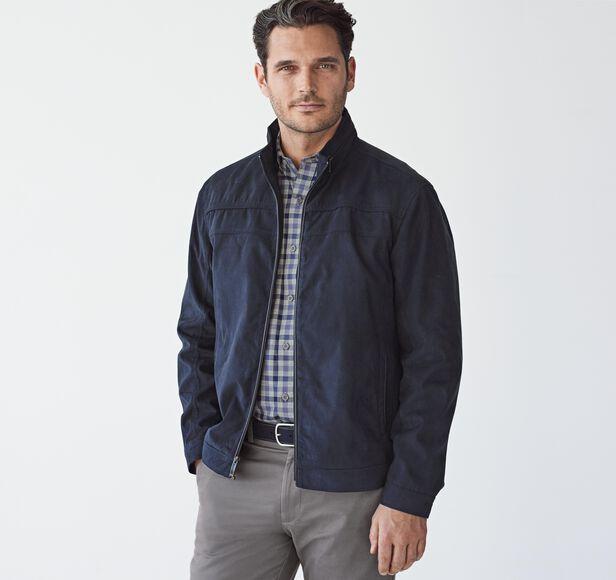 Perforated Microsuede Jacket